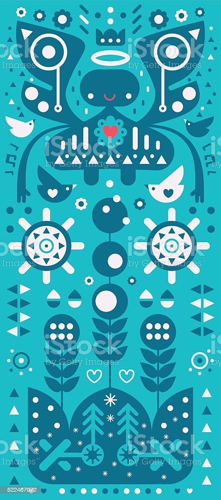 Angel Blessings vector art illustration