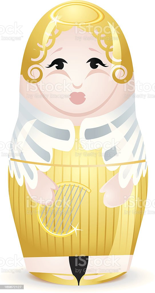 Angel Christmas stacking Doll royalty-free stock vector art