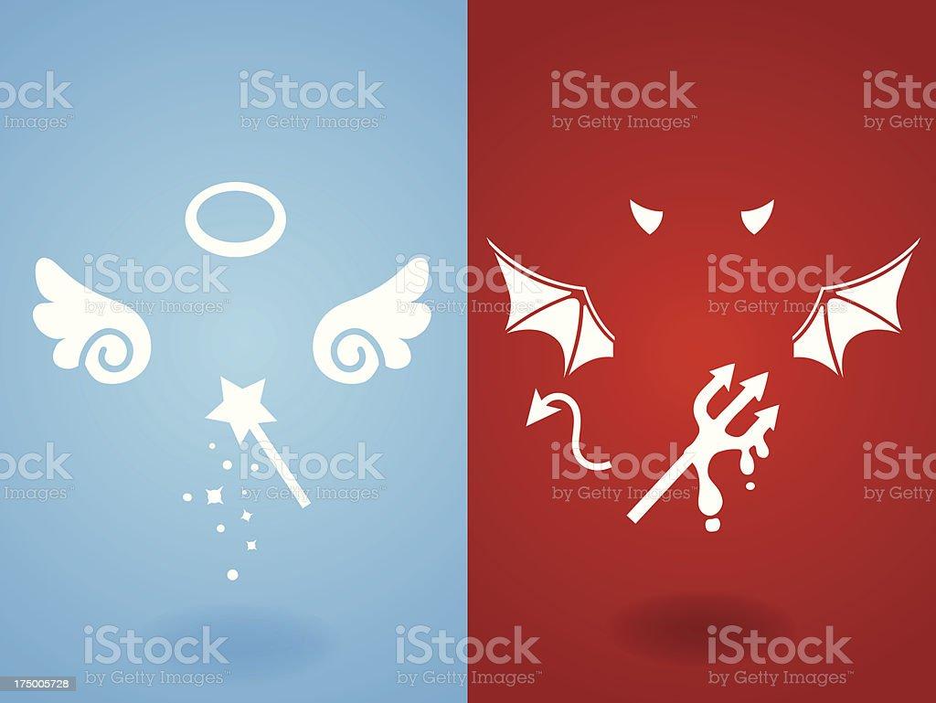 Angel & Devil Concept - Vector File EPS10 vector art illustration