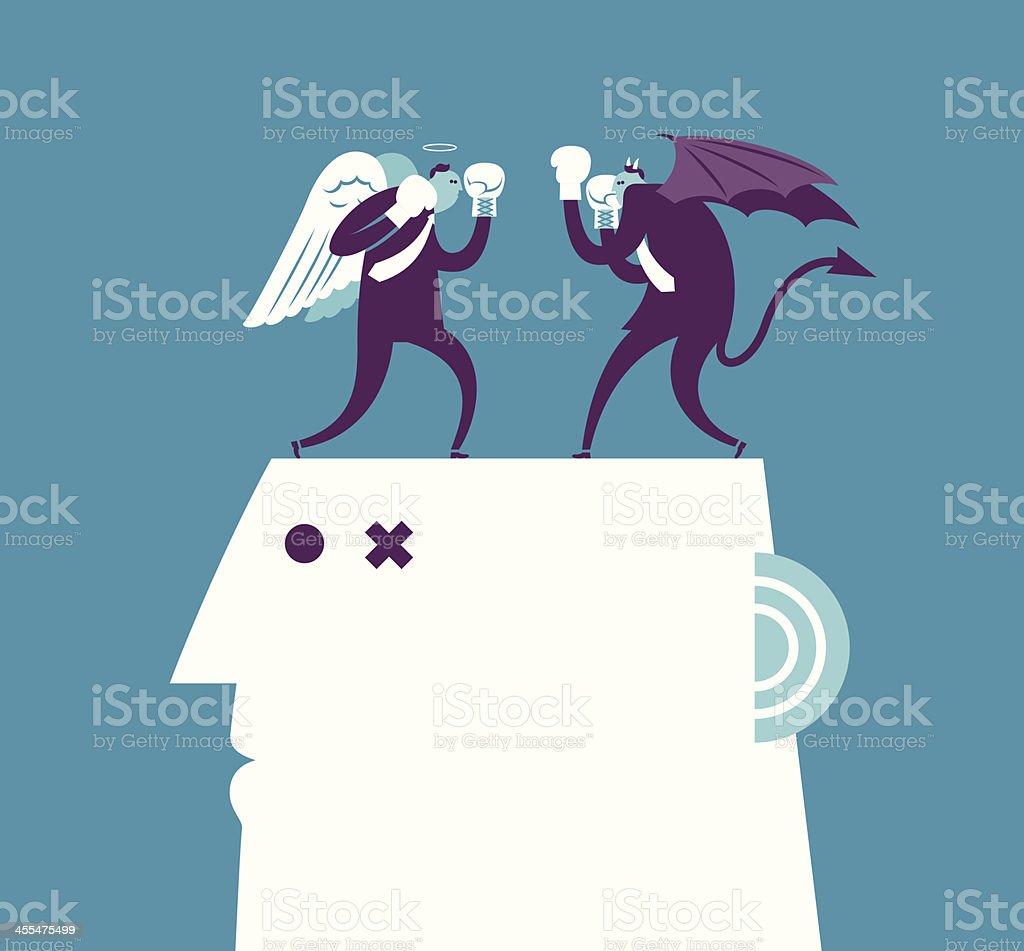 Angel & Devil vector art illustration