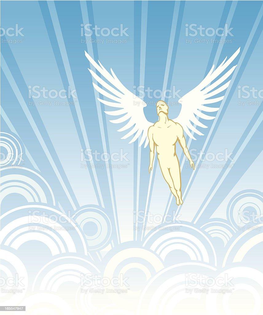 Angel Flight royalty-free stock vector art