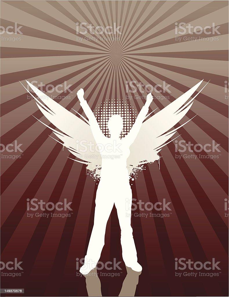 Angel Girl royalty-free stock vector art