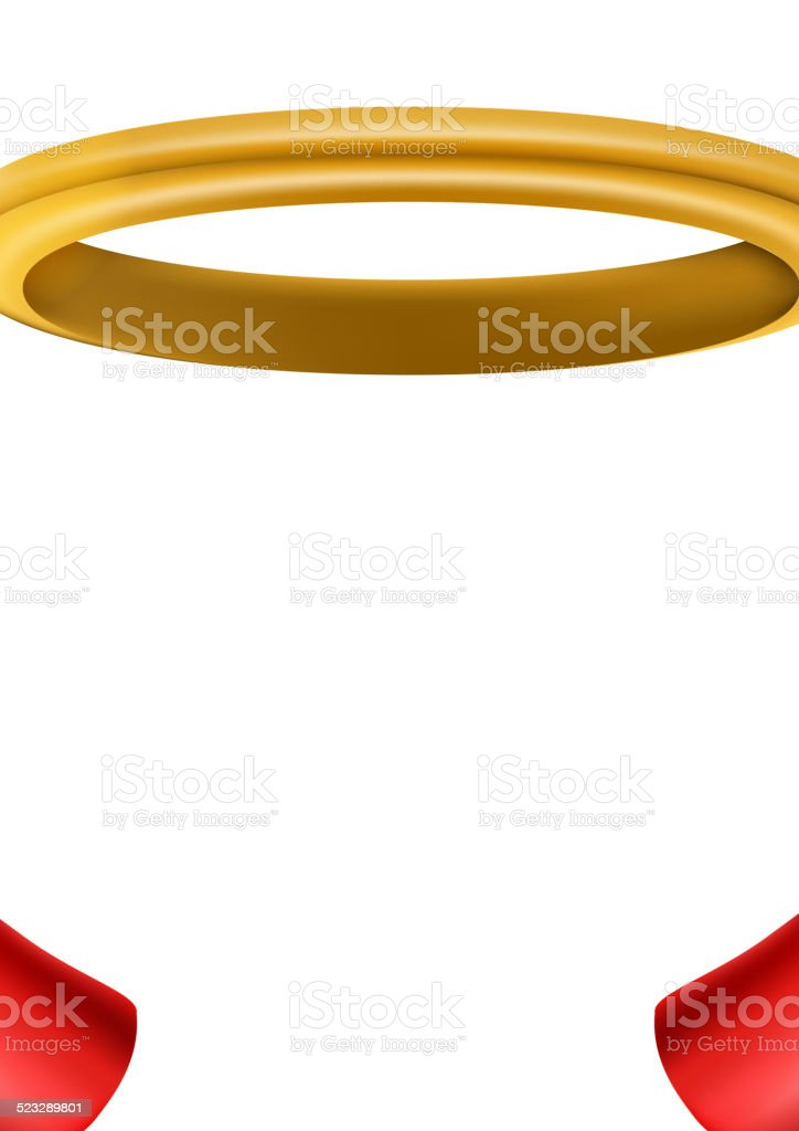 angel halo and devil horns isolated for you design vector art illustration