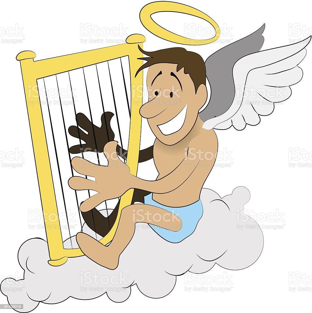 Angel harp royalty-free stock vector art