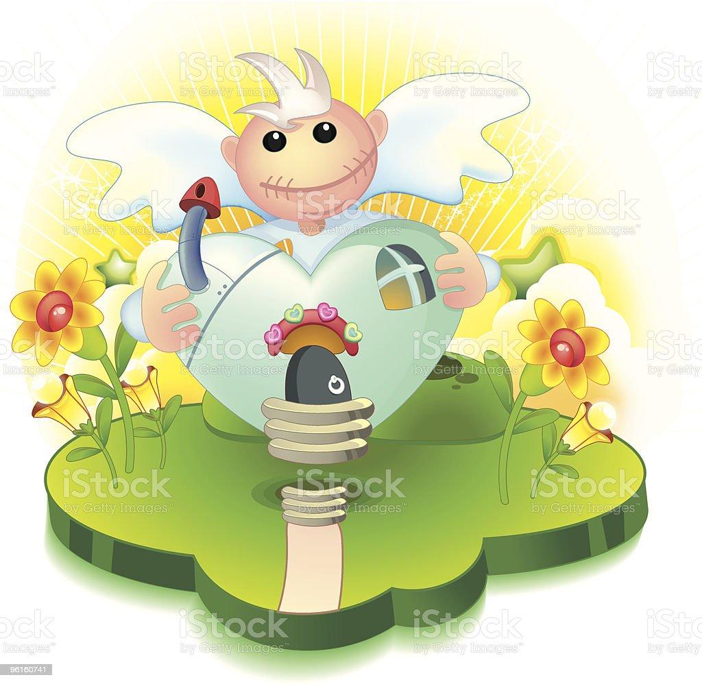 Angel Heart's House vector art illustration