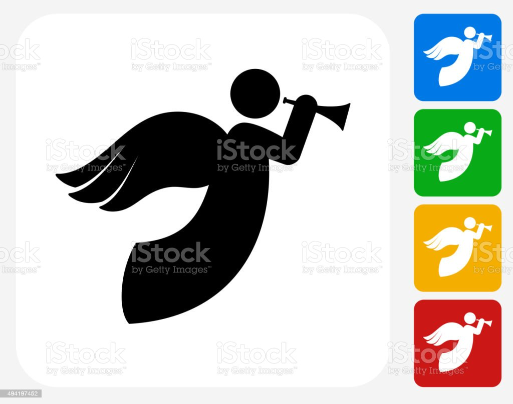 Angel Icon Flat Graphic Design vector art illustration