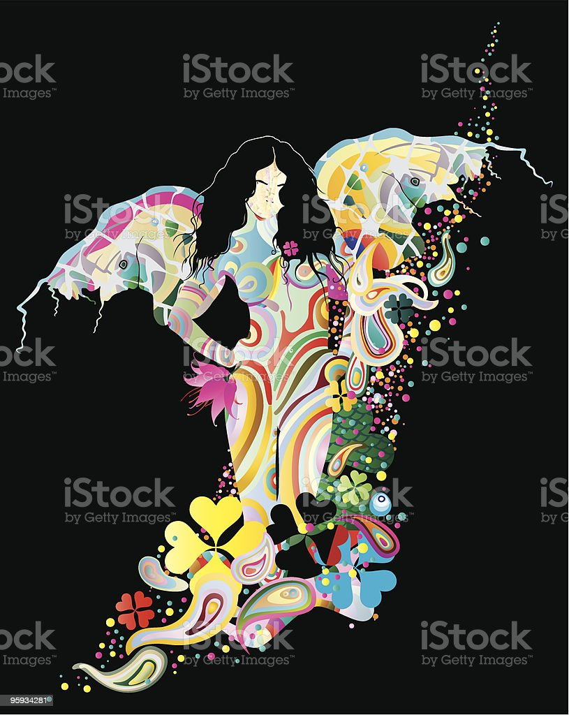 angel in the bright stream royalty-free stock vector art