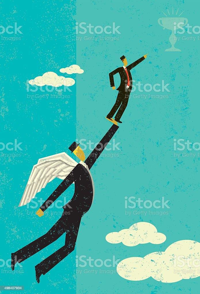 Angel Investor vector art illustration