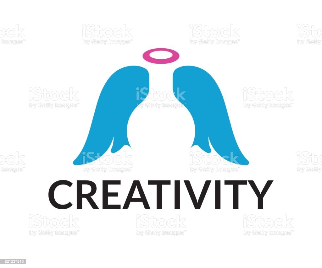 Angel lab vector icon vector art illustration