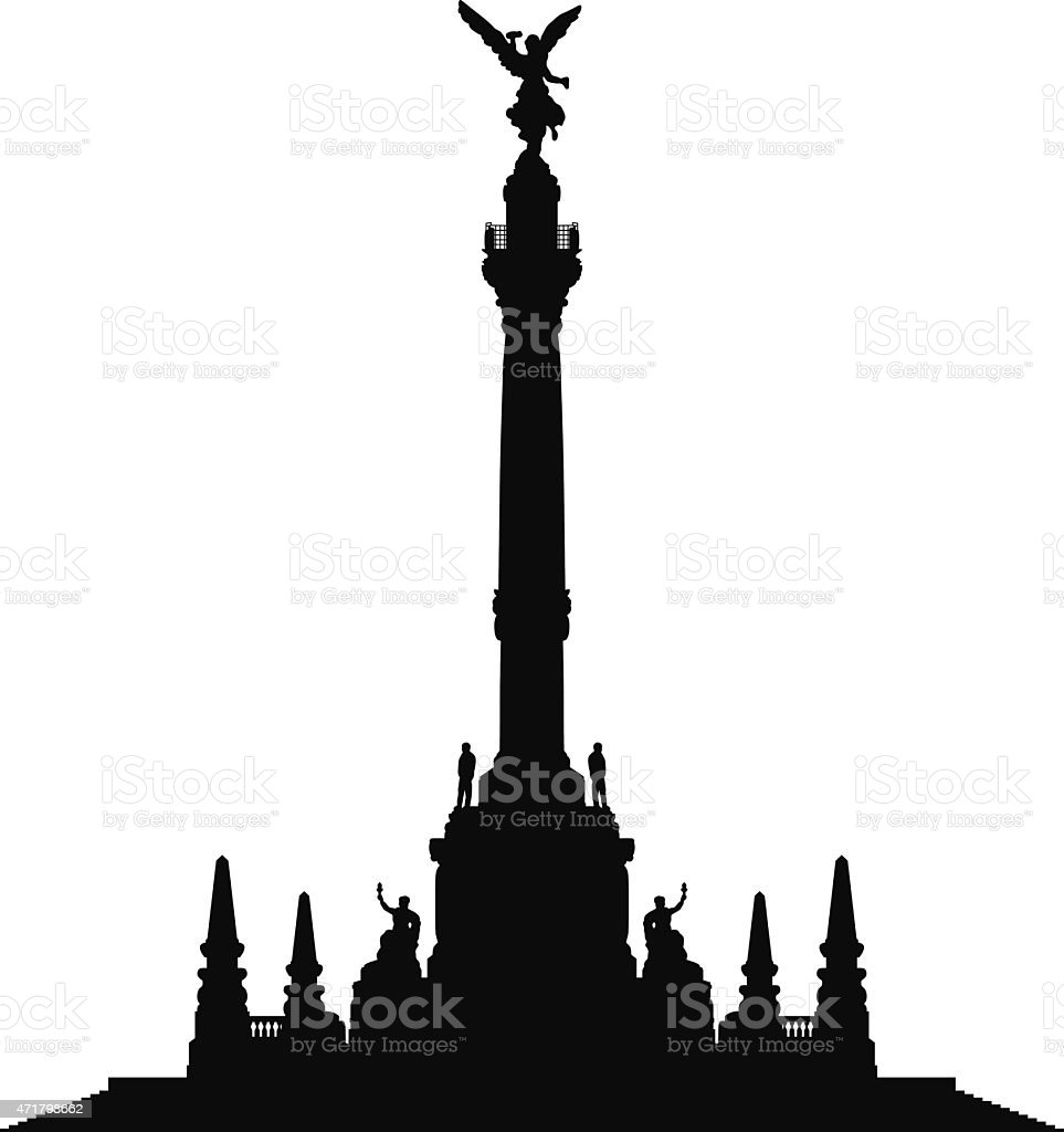 Angel of Independence, Mexico City vector art illustration