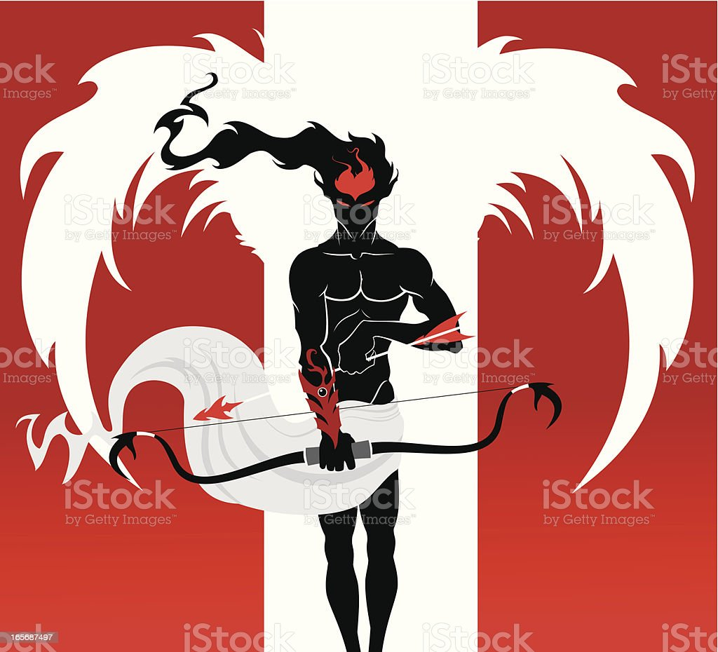 Angel of passion royalty-free stock vector art