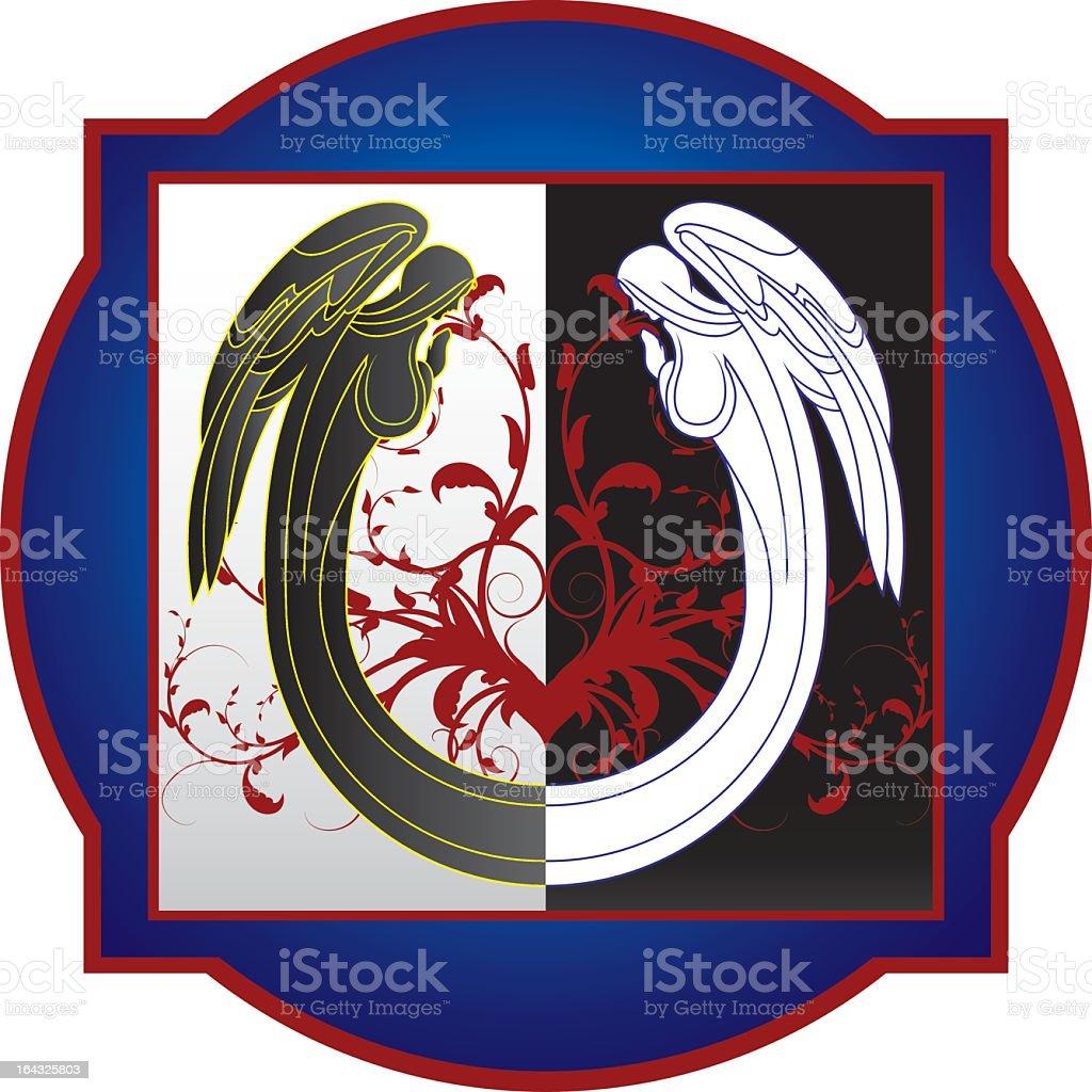 Angel Placard vector art illustration