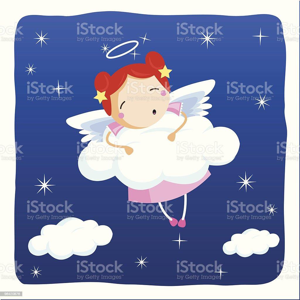 angel sleeping royalty-free stock vector art