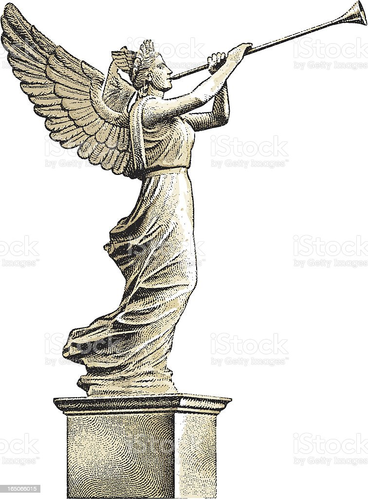 Angel Statue royalty-free stock vector art