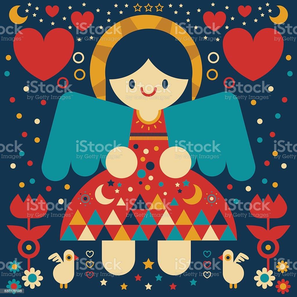 Angel vector art illustration