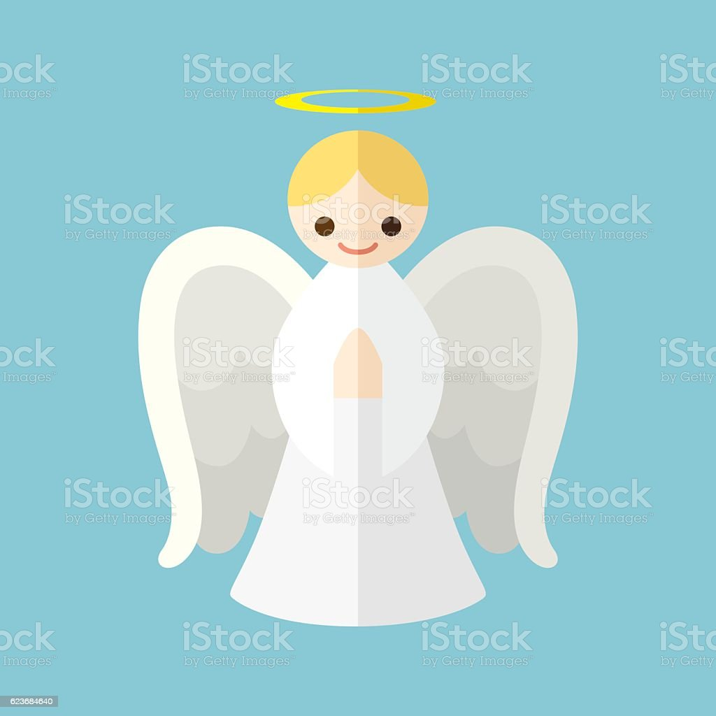 Angel vector art illustration