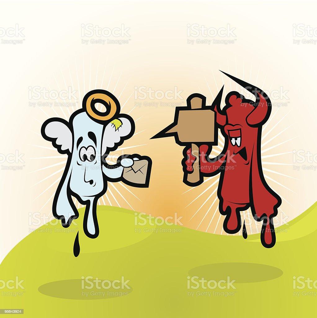 angel vs devil royalty-free stock vector art