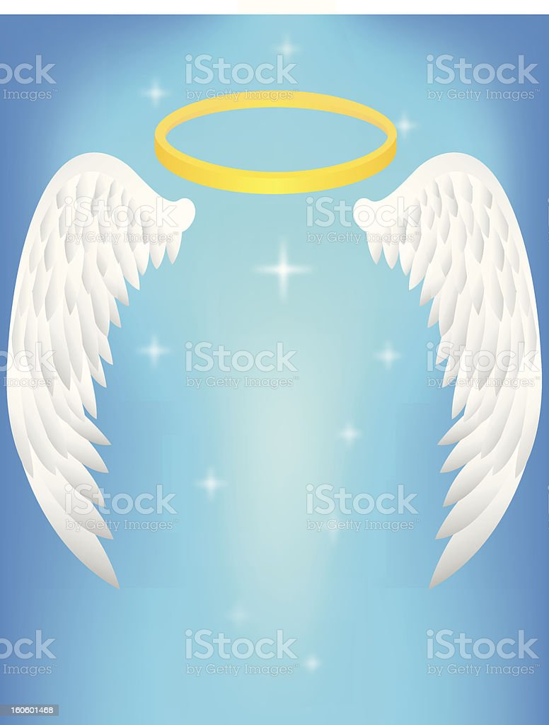 Angel wing royalty-free stock vector art
