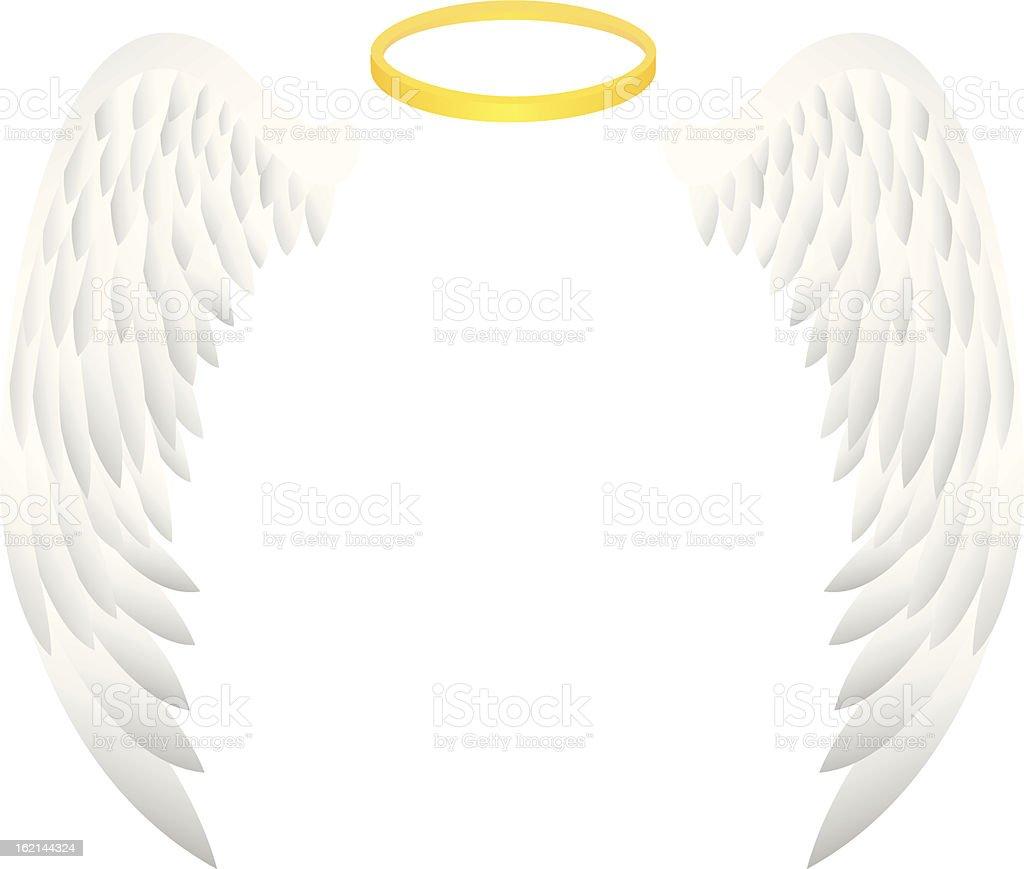 angel wing vector art illustration