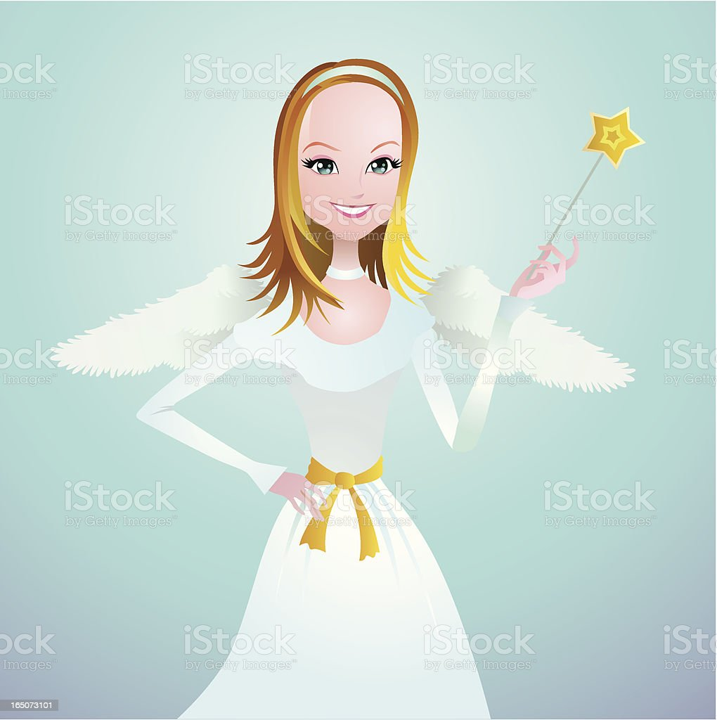 Angel with love magic royalty-free stock vector art