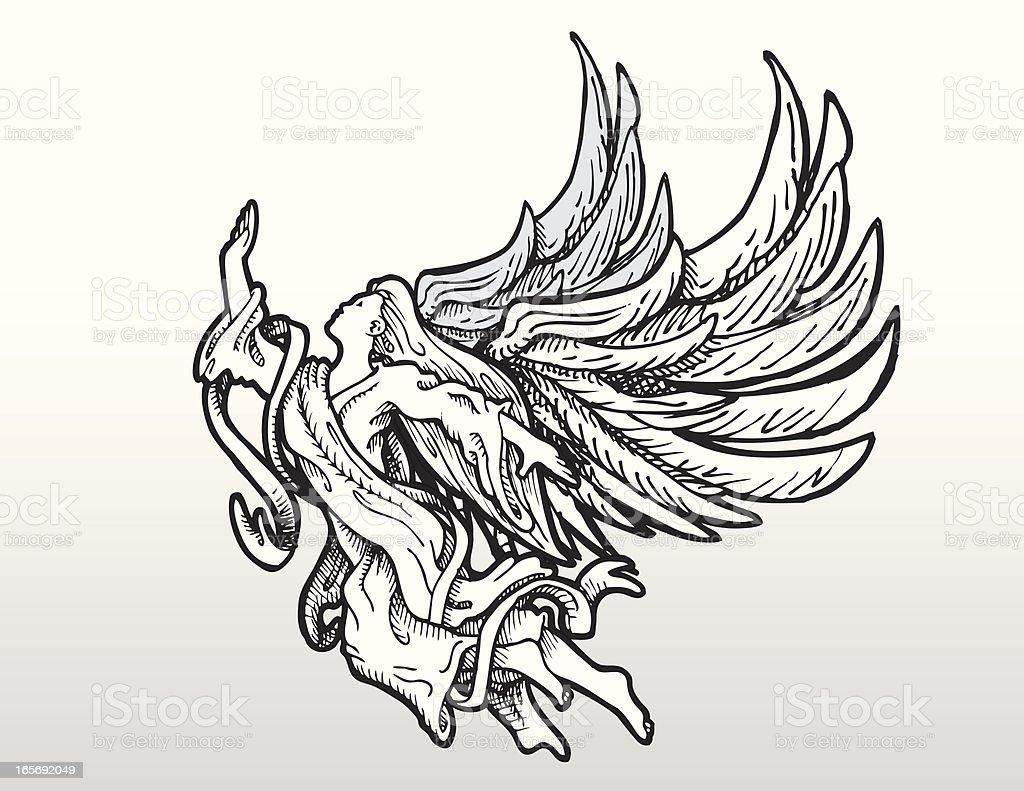 Angelic Assent royalty-free stock vector art