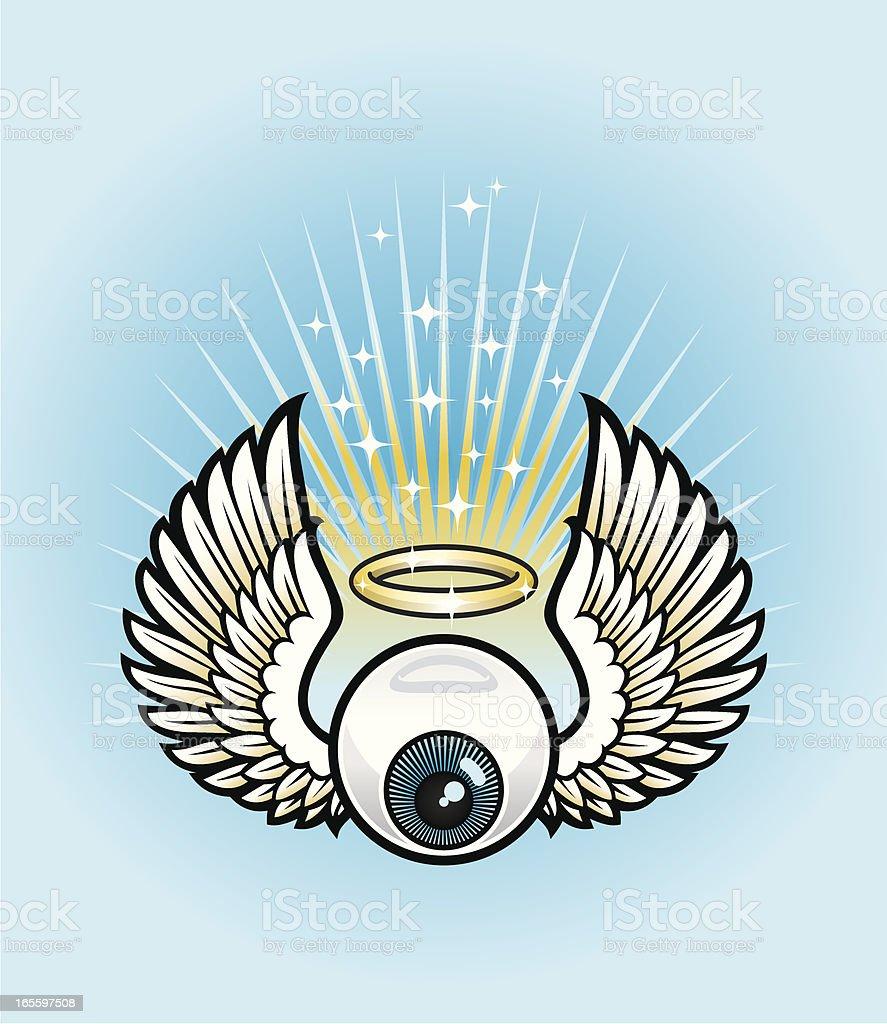 Angelic eye royalty-free stock vector art