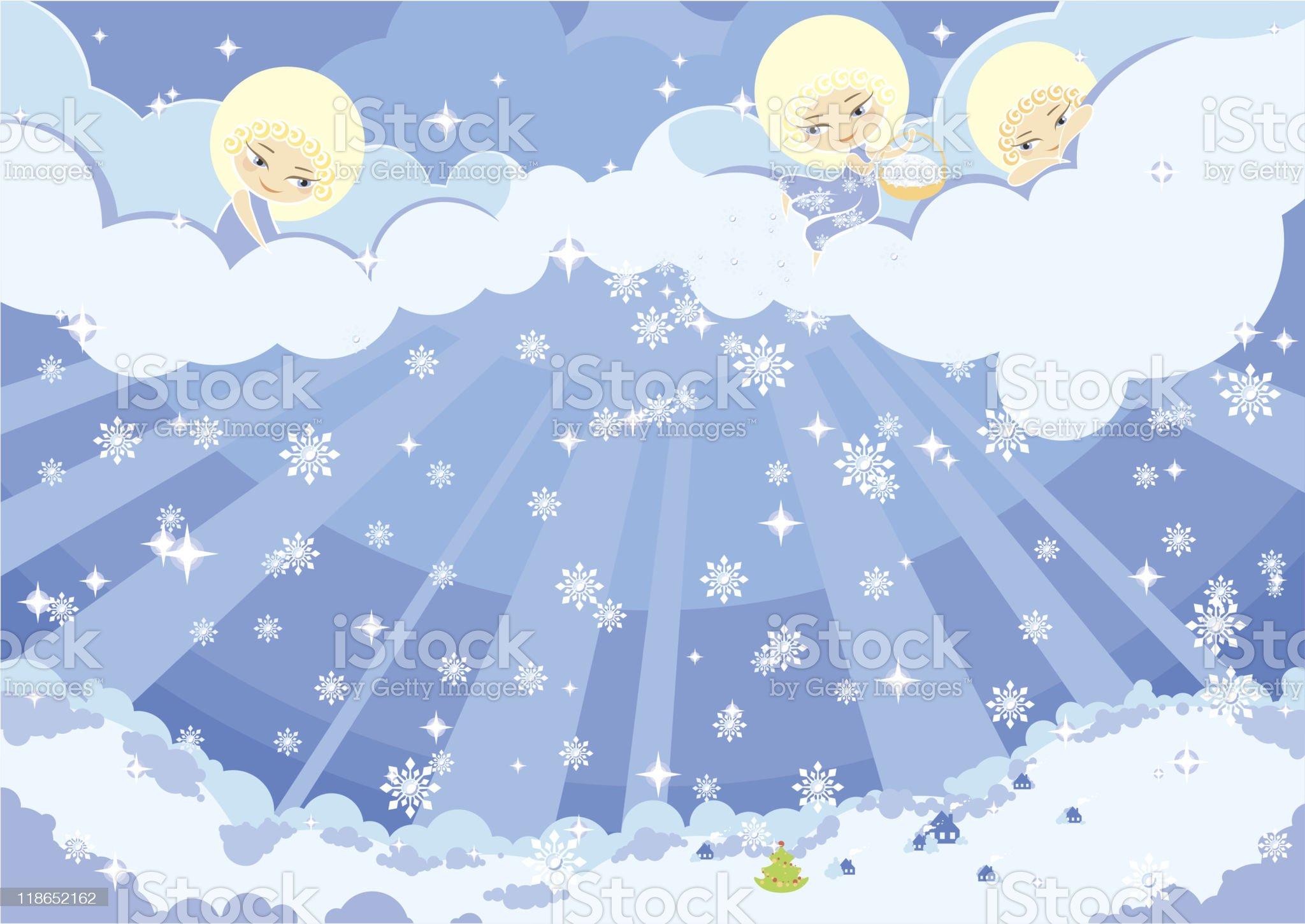 angelic snow royalty-free stock vector art