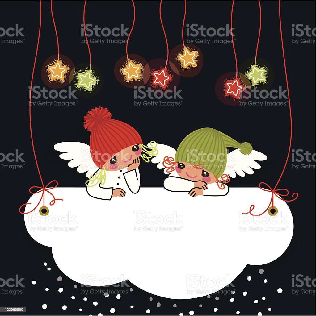 Angels and Stars. royalty-free stock vector art