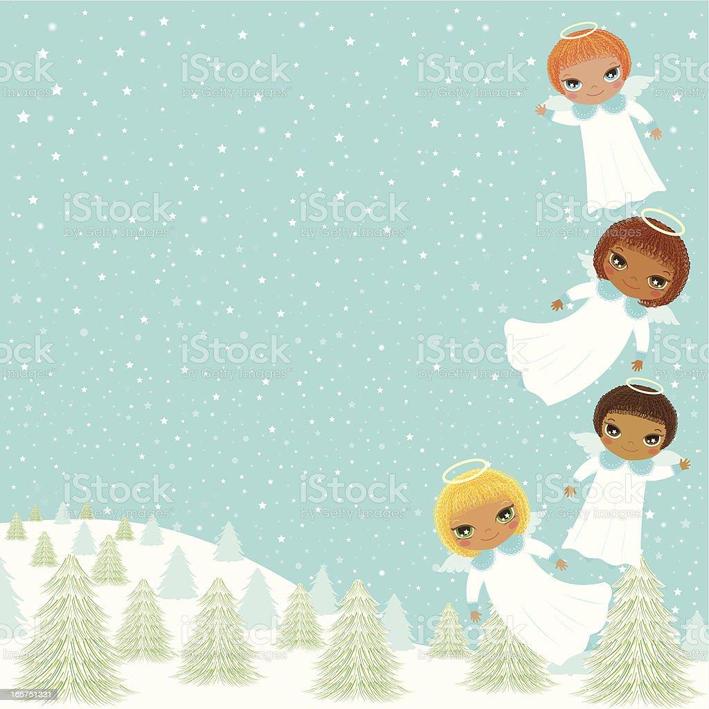 Angels Frame vector art illustration