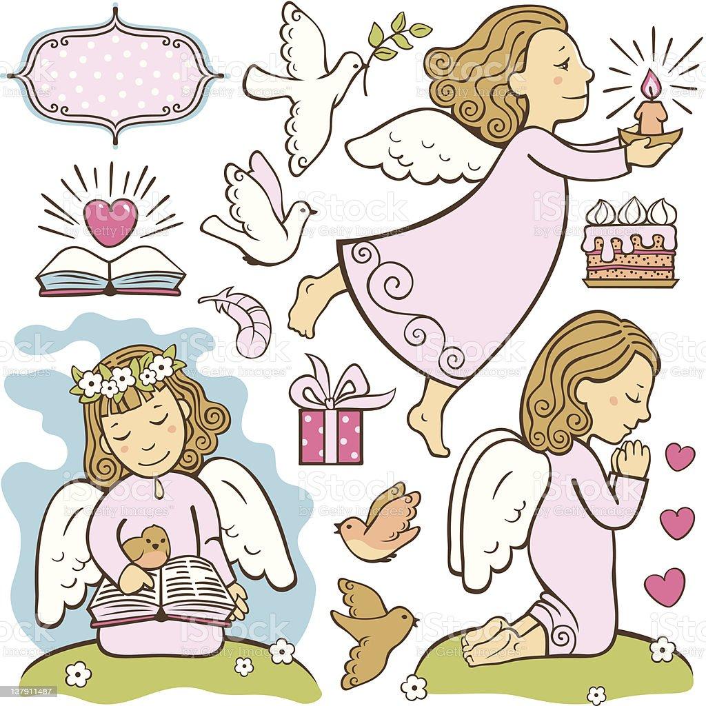 angels royalty-free stock vector art