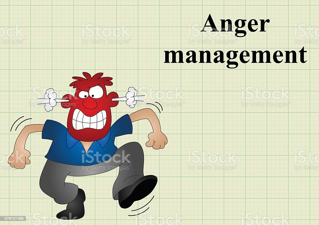 Anger management vector art illustration