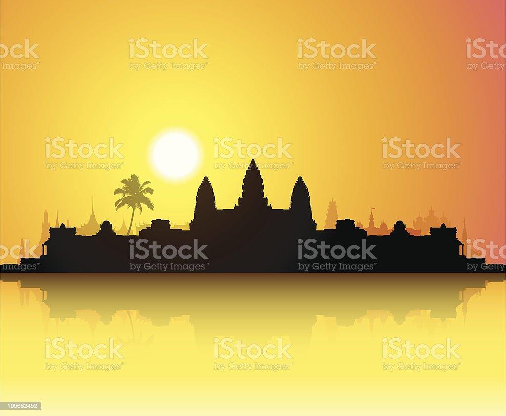 Angkor Wat royalty-free stock vector art