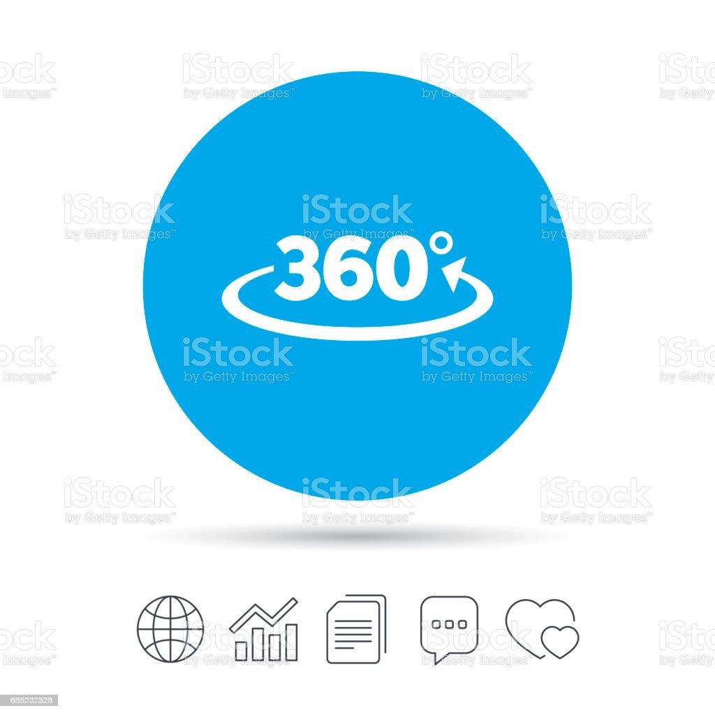 Angle 360 Degrees Sign Icon Geometry Math Symbol