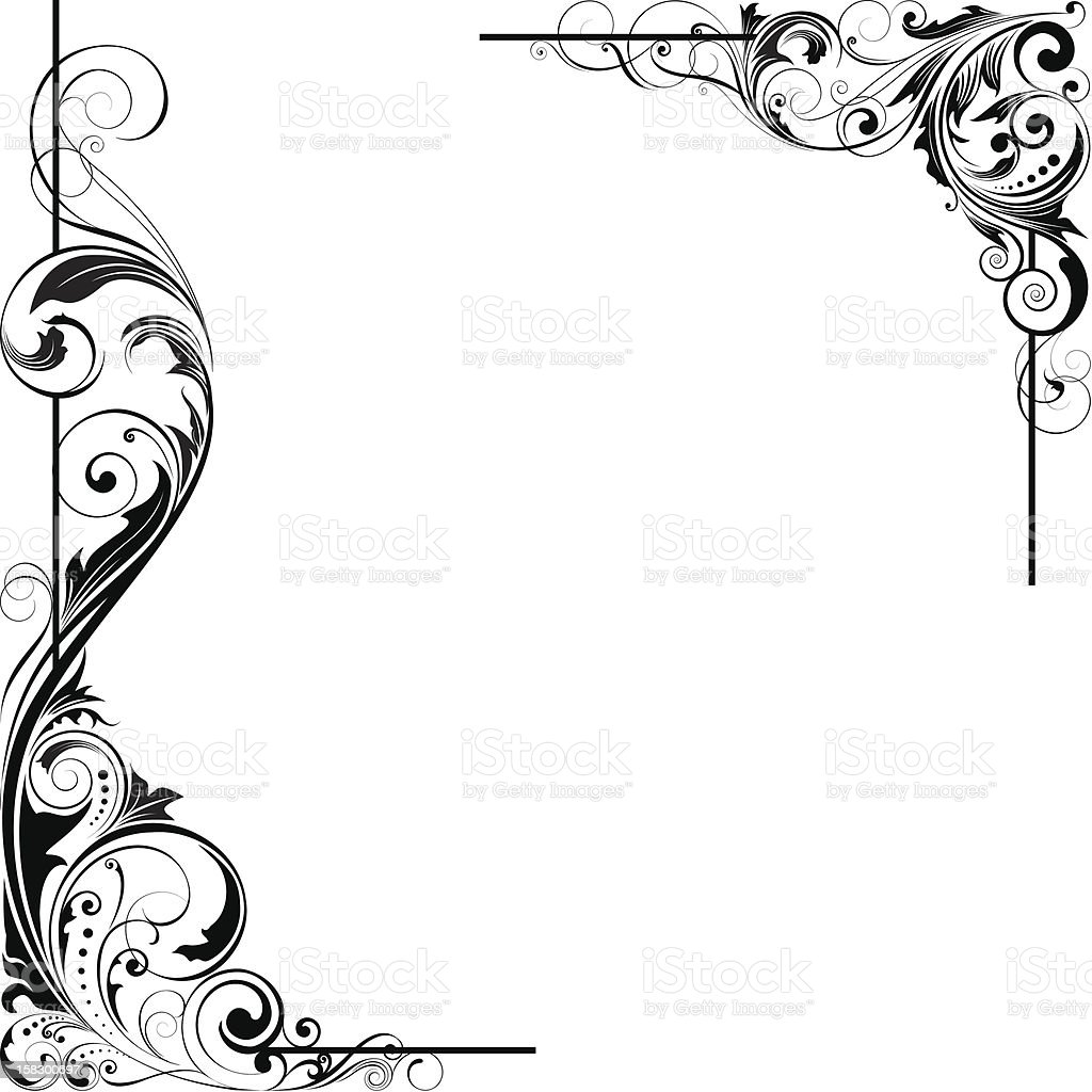 Angle leaf design vector art illustration