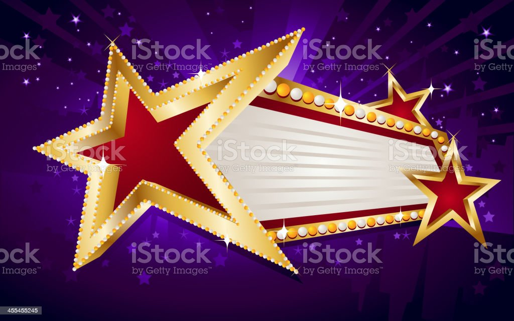 Angled Star Marquee Display royalty-free stock vector art