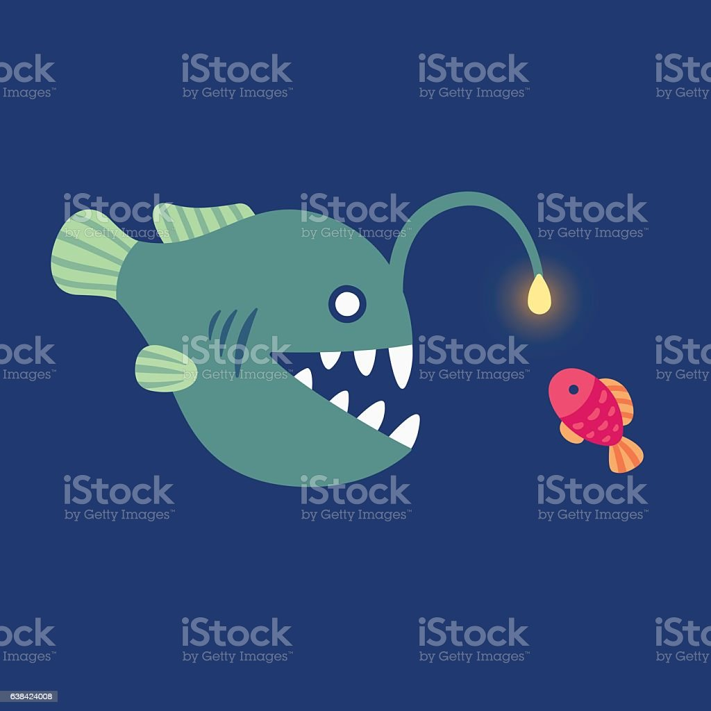 angler fish illustration vector art illustration
