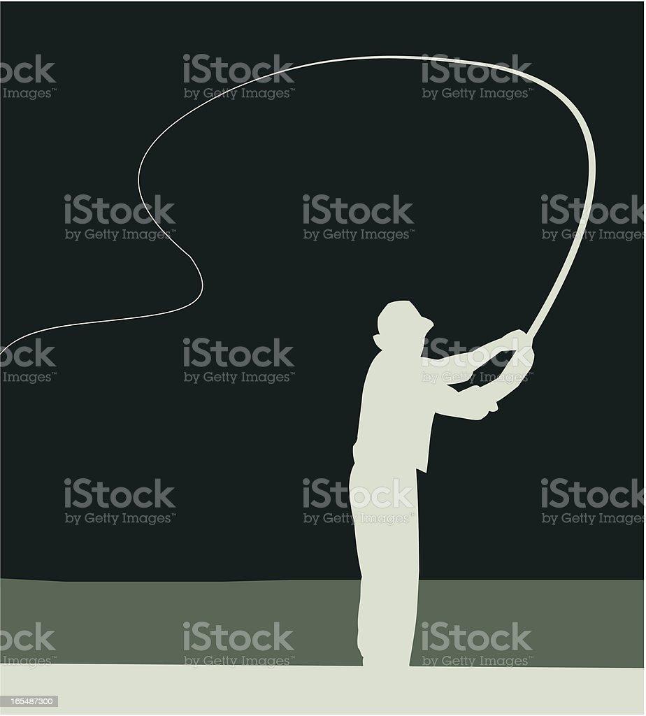 Angler vector art illustration