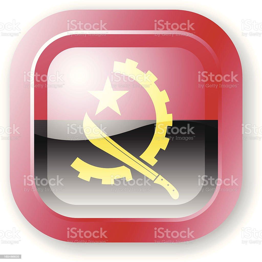 Angola Flag Icon royalty-free stock vector art