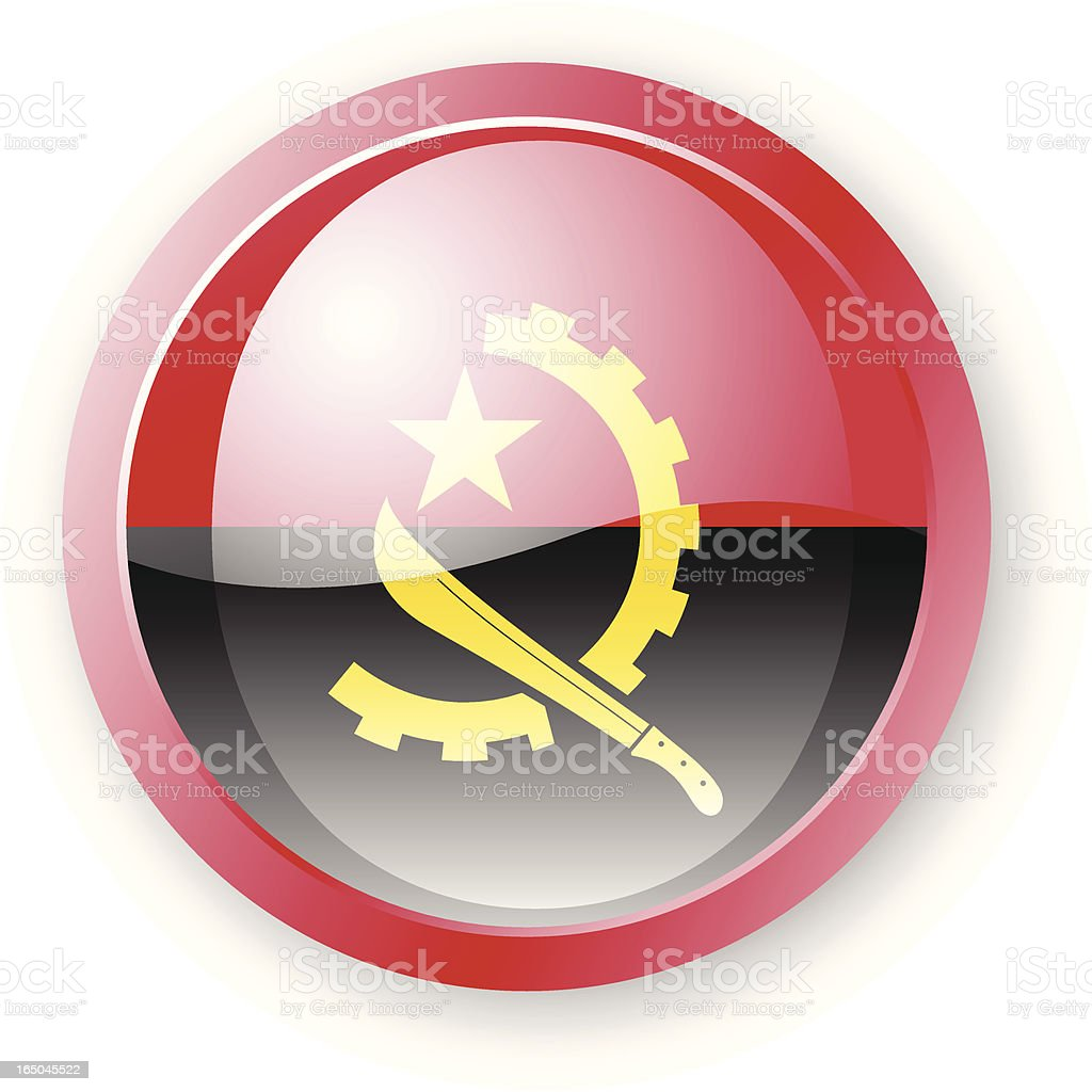 Angolan Flag Icon vector art illustration