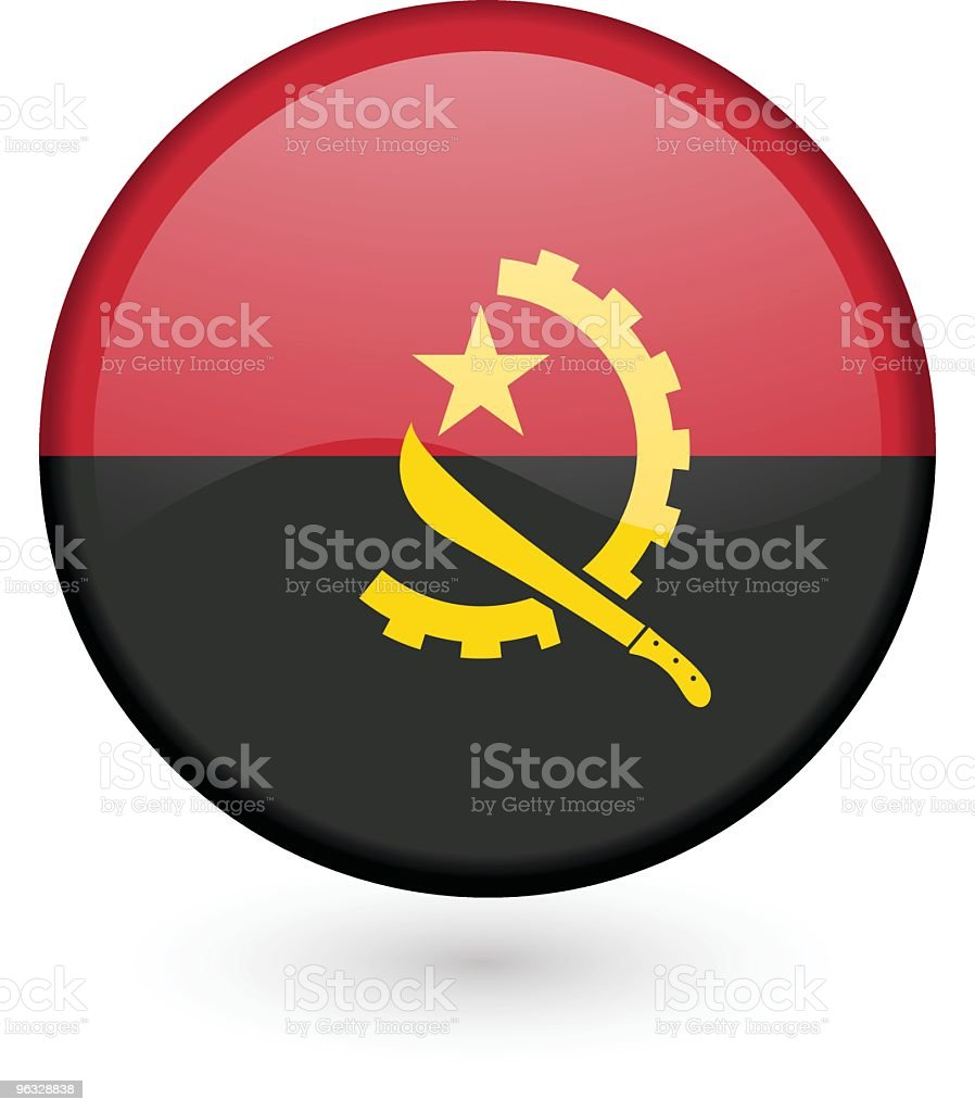 Angolan flag vector button royalty-free stock vector art