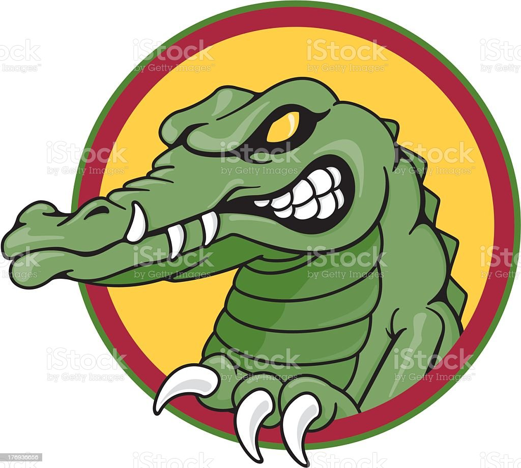 Angry Alligator royalty-free stock vector art