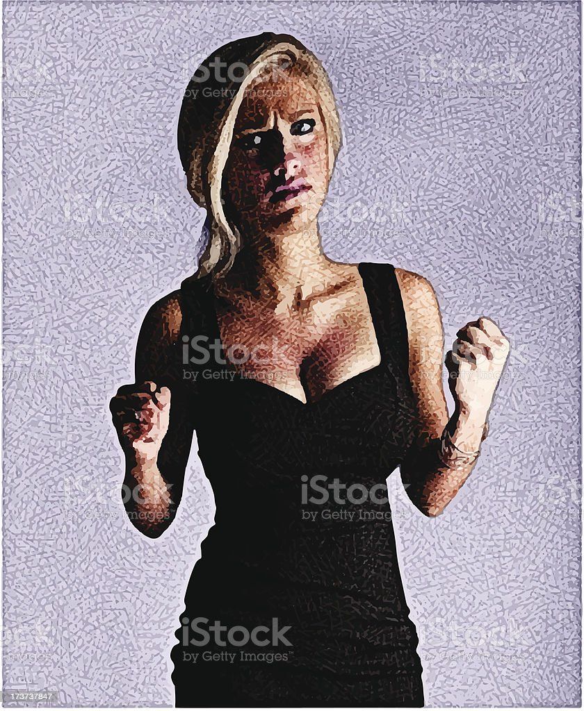 Angry and Sad At The Same Time royalty-free stock vector art