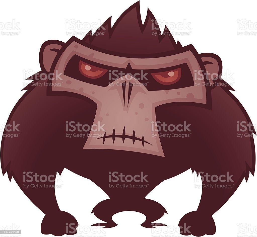 Angry Ape vector art illustration