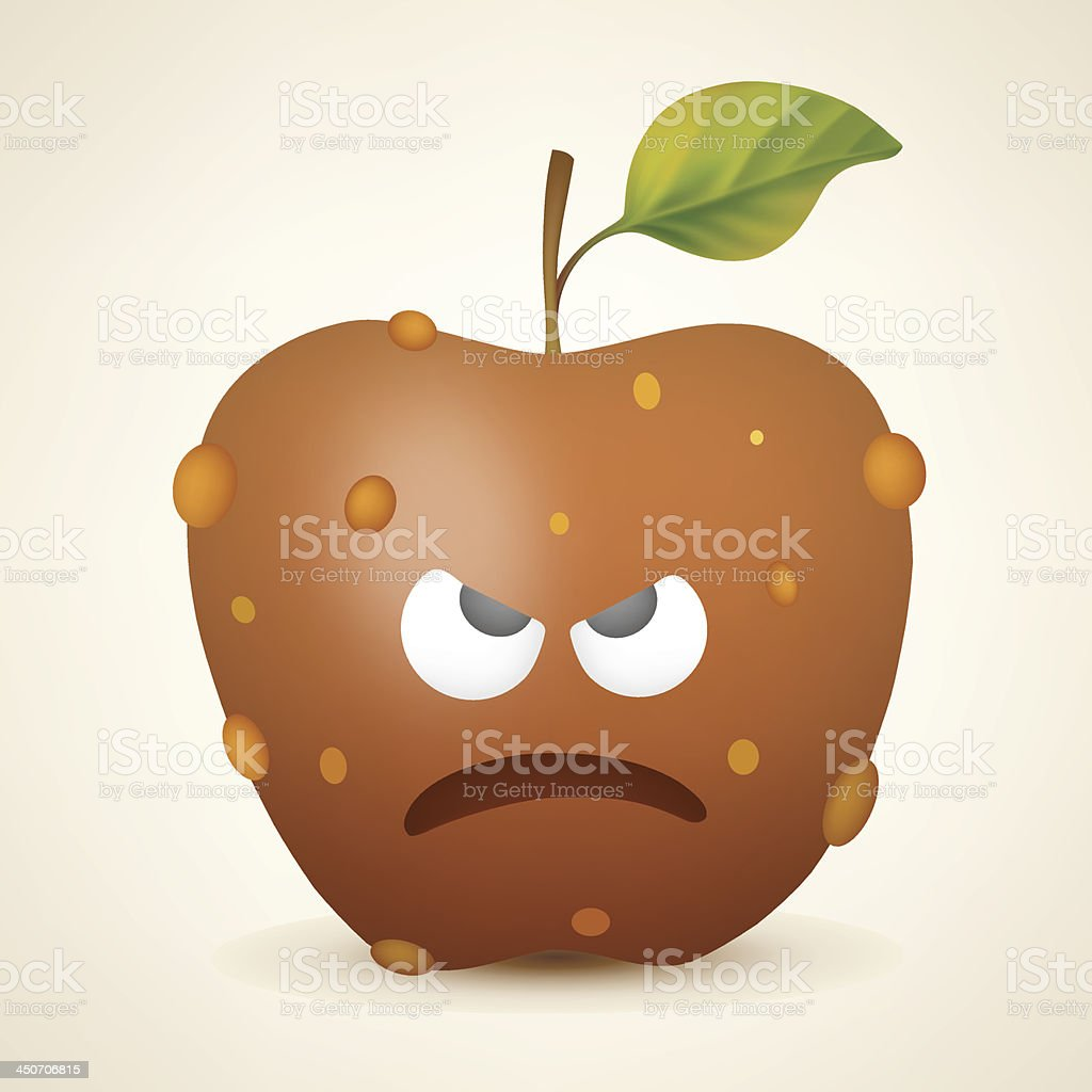 Angry apple royalty-free stock vector art