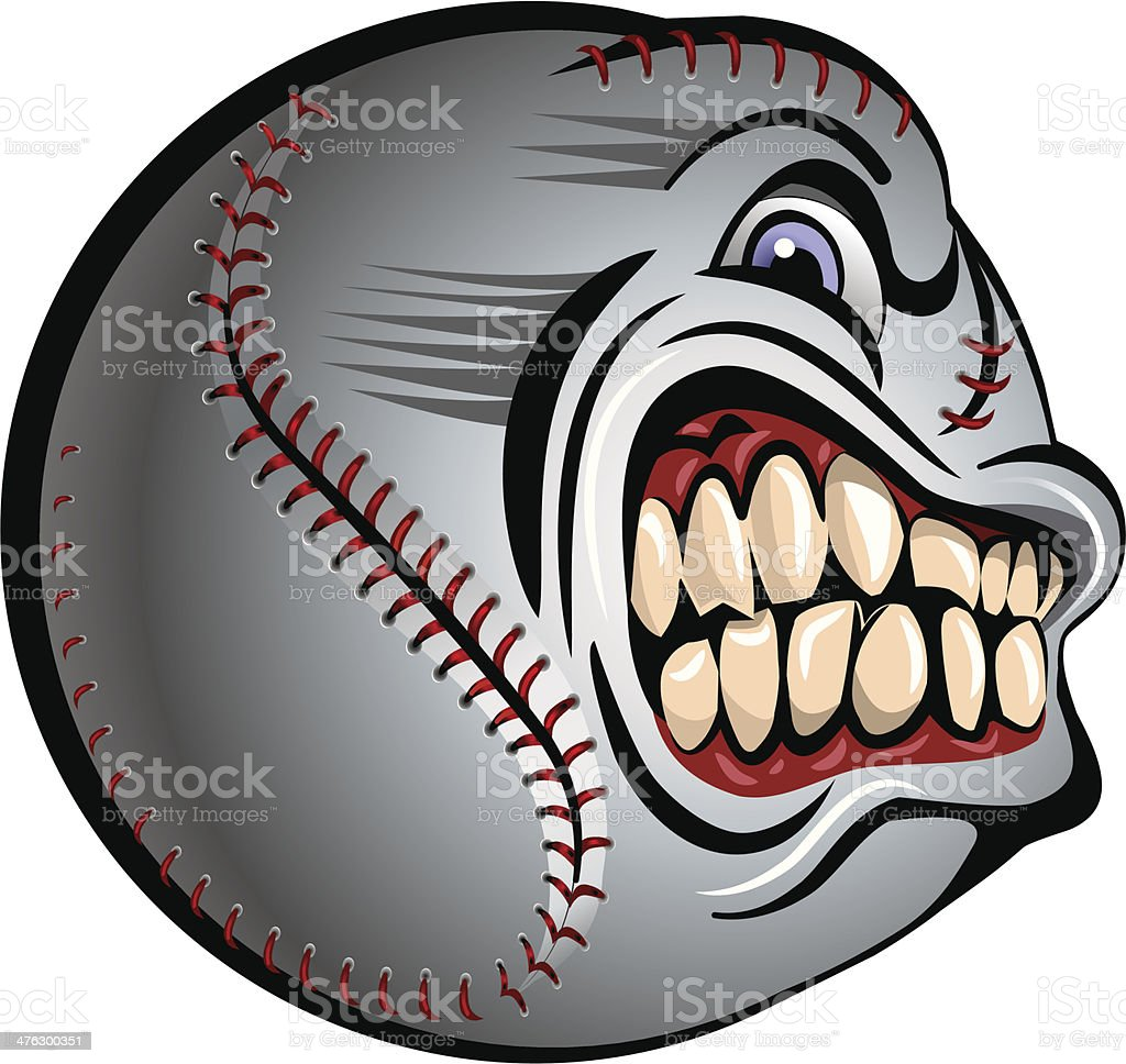 Angry Baseball royalty-free stock vector art