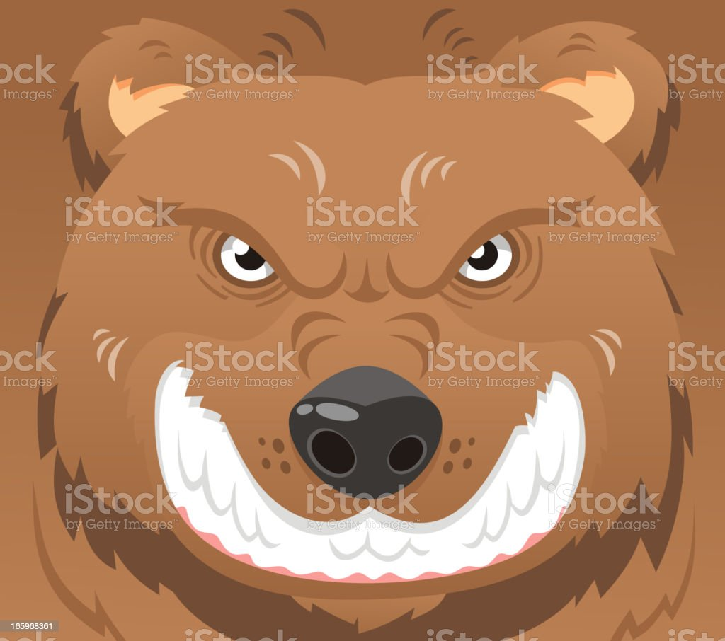 Angry bear face market icon royalty-free stock vector art
