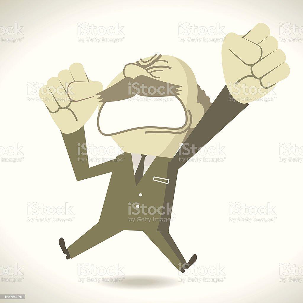 Angry boss shouting royalty-free stock vector art