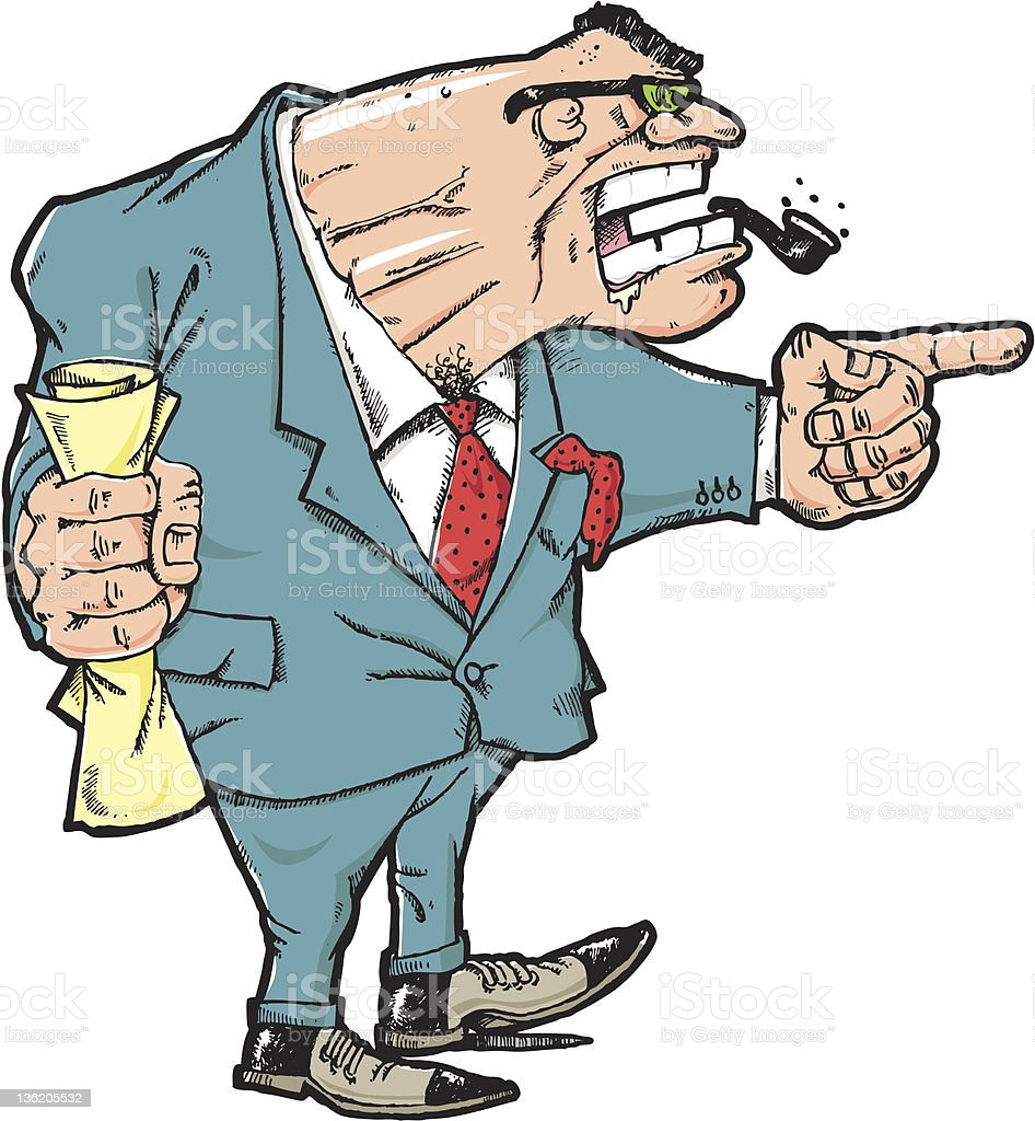 angry boss royalty-free stock vector art