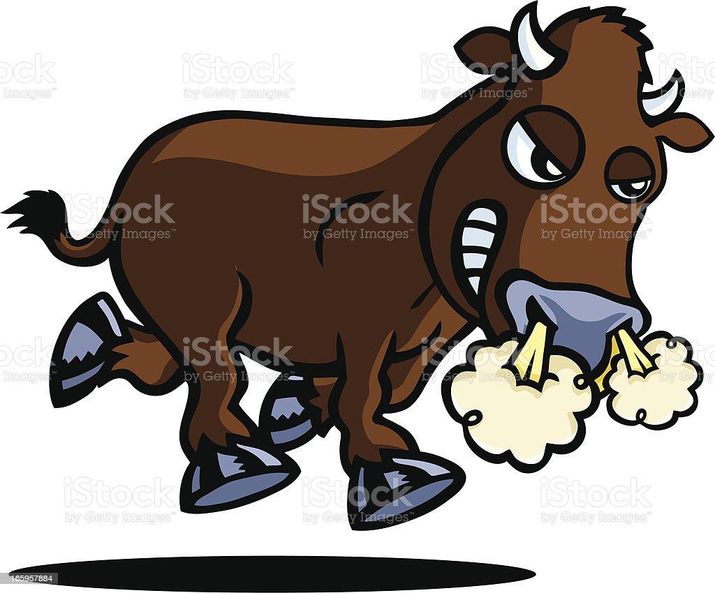 Angry Bull vector art illustration