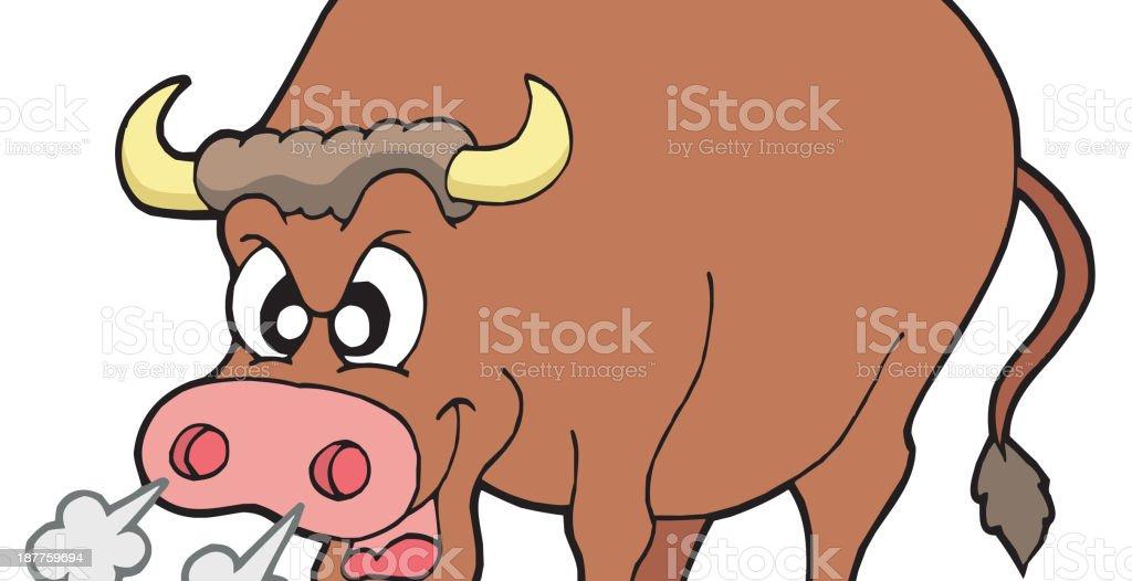 Angry bull royalty-free stock vector art